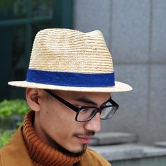 BLUEBLUE JAPAN 的 藍染綁帶草帽