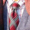 TAKEO KIKUCHI 的 格紋羊毛領帶