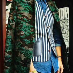 無品牌 的 迷彩西裝外套