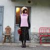 FAIRY FARM FACTORY VINTAGE 的 粉紅色高領毛衣