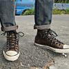 CONVERSE X JOHN VARVATOS  的 仿舊鉚釘皮革帆布鞋