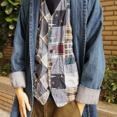 ENGINEERED GARMENTS X BEAMS 的 拼接背心