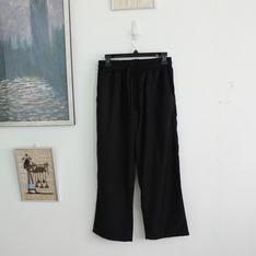 網購 的 九分寬版西裝哈倫休閒褲