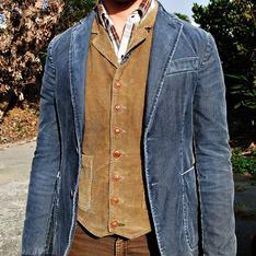 BENETTON 的 燈芯絨獵裝外套