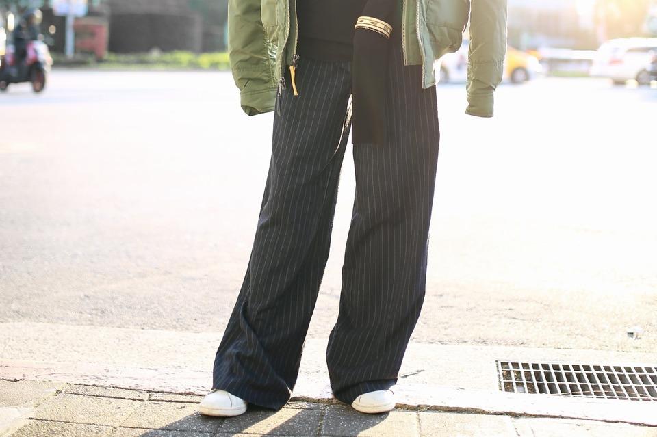 DOROTHY PERKINS 的 寬管直筒細條紋長褲