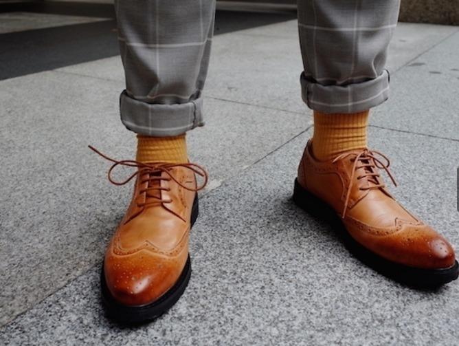 無品牌 的 牛津雕花皮鞋