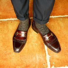 無品牌 的 酒紅樂福鞋