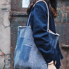 OMAKE 的 古布刺繡包