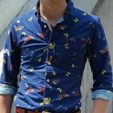 PLAIN-ME 的 蝴蝶花襯衫