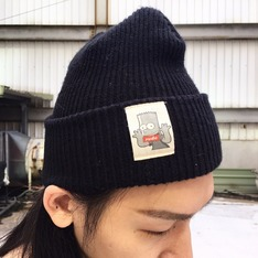 THE SIMPSONS HATS 的 黑色毛帽