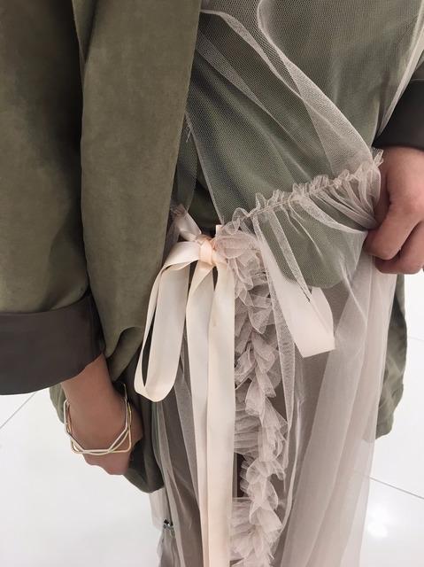 VII&CO 的 米色紗裙