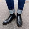 VANGER 的 黑色漆皮樂福鞋