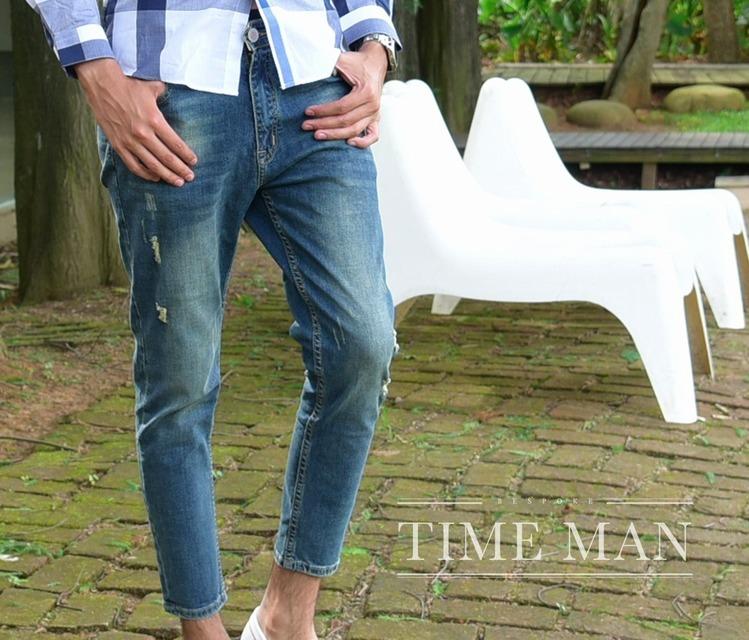 TM時間男人 的 彈力塑形牛仔褲