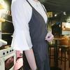BEARTWO 的 V領細肩造型附腰帶背心洋裝