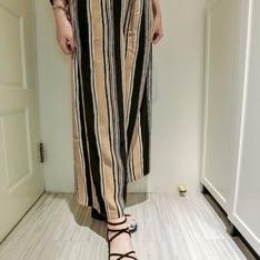 BEARTWO 的 條紋寬褲