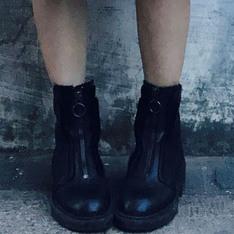 ASH 的 真皮黑色短靴