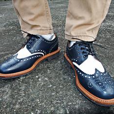 SANDERS 的 雕花皮鞋