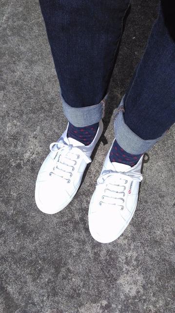 SUPERGA 的 白色帆布鞋