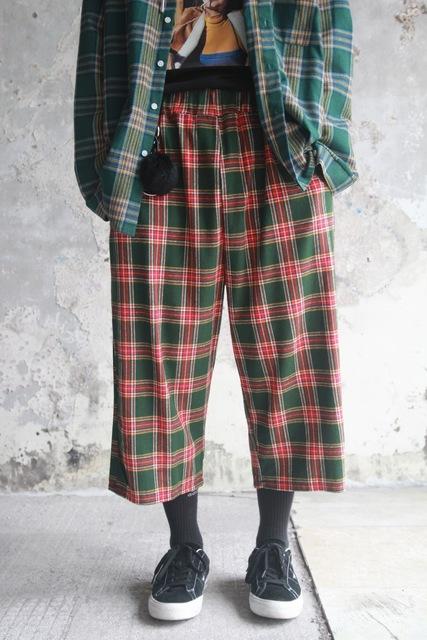 FAITH KOREA 的 格紋褲