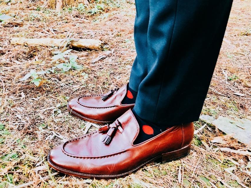 林果良品 的 酒紅色流蘇樂福鞋