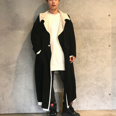 YOHJI YAMAMOTO 的 BLACK&WHITE COAT