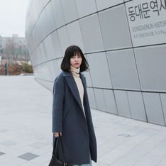 無品牌 的 藍灰色大衣