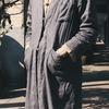 OMAKE 的 亞痲單釦長袍
