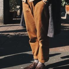 OMAKE 的 多口袋窄管工作褲