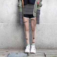 ZOHARA 的 藝術紋身褲襪