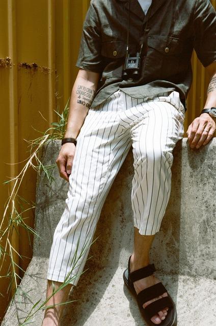 TAKEO KIKUCHI 的 條紋褲