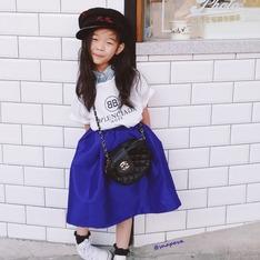 訂製童裝 的 復古大圓裙
