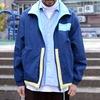 PLAIN-ME 的 別注款棉質拼接運動外套